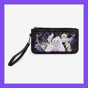 ❗️NEW❗️Loungefly Disney Villians Watercolor Wallet